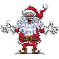 Наклейка Санта ну вот и все ребята, фото 1