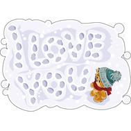 Наклейка Мишка Тедди и надпись на снегу, фото 1