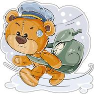 Наклейка Мишка Тедди почтальон, фото 1