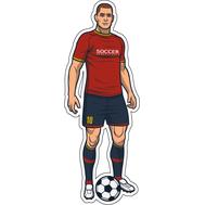 Наклейка Игрок в красно-синей форме, фото 1