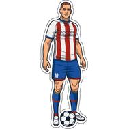 Наклейка Игрок в красно-белой полосатой форме, фото 1