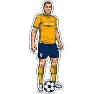 Наклейка Игрок в желто-синей форме, фото 1