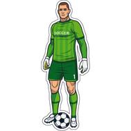 Наклейка Вратарь в зеленой форме, фото 1