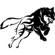 Наклейка Волк узорный, фото 1