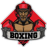Наклейка Boxing Club Боец в красном шлеме, фото 1