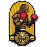 Наклейка Боксер и Чемпионский пояс, фото 1