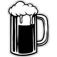 Наклейка Кружка пива, фото 1