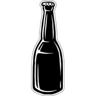 Наклейка Пивная бутылка, фото 1