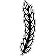 Наклейка колосок пшеницы, фото 1