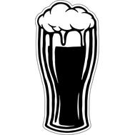 Наклейка Бокал пива, фото 1