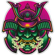 Наклейка Зеленый самурай, фото 1