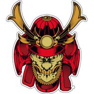 Наклейка Самурай в красной маске, фото 1