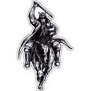 Наклейка Самурай на коне, фото 1