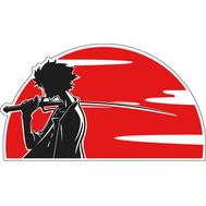 Наклейка Молодой самурай на закате, фото 1