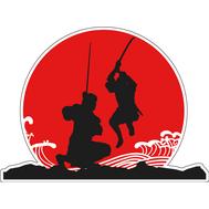 Наклейка Бой самураев, фото 1