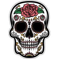 Наклейка Череп с розой, фото 1