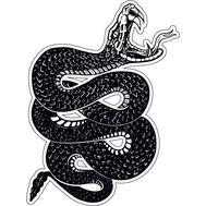 Наклейка Скрученная змея, фото 1