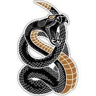 Наклейка Гремучая змея пугает, фото 1