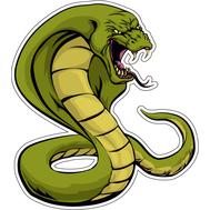 Наклейка Зеленая кобра раскрыла капюшон, фото 1