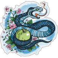 Наклейка Змея в японском стиле, фото 1