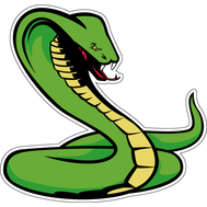 Наклейка Зеленая кобра хочет напугать, фото 1