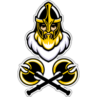 Наклейка Бородатый рыцарь и топоры, фото 1