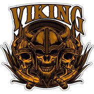 Наклейка Черепа викингов, фото 1