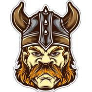 Наклейка Усатый викинг, фото 1