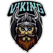 Наклейка Викинг с голубыми глазами, фото 1