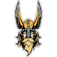 Наклейка Викинг в шлеме с крыльями, фото 1