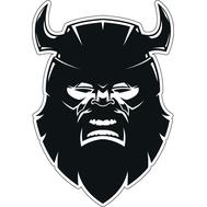 Наклейка Черный викинг, фото 1