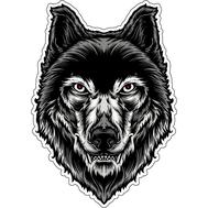 Наклейка Серый страшный волк, фото 1