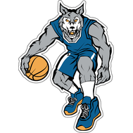 Наклейка Волк баскетболист, фото 1