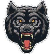 Наклейка Волк оборотень, фото 1