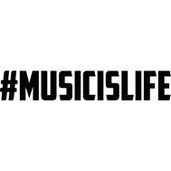 Наклейка #Musicislife, фото 1