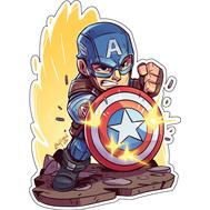 Стикер Marvel Капитан Америка, фото 1
