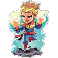 Стикер Marvel Капитан Марвел, фото 1