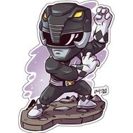 Стикер Power Rangers Черный Рейнджер, фото 1