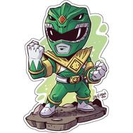 Стикер Power Rangers Зеленый Рейнджер, фото 1