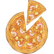 Наклейка Пицца с морепродуктами, фото 1