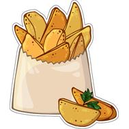 Наклейка Картофель по деревенски в белой коробке, фото 1