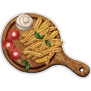 Наклейка Картошка фри с помидорами и соусом, фото 1