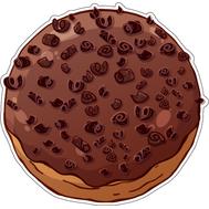 Наклейка Пончикс начинкой в шоколадной глазури и шоколадной крошкой, фото 1