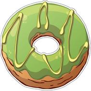 Наклейка Пончик в зеленой глазури, фото 1