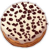 Наклейка Пончик с начинкой в белой глазури, фото 1