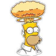 Наклейка Гомер Симпсон взрыв мозга, фото 1
