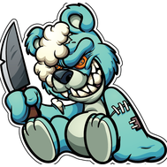 Наклейка Медведь Зомби, фото 1