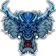Наклейка Старый синий Дракон, фото 1