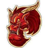 Наклейка Красный Дракон, фото 1