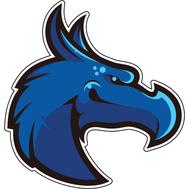 Наклейка Синий Дракон, фото 1